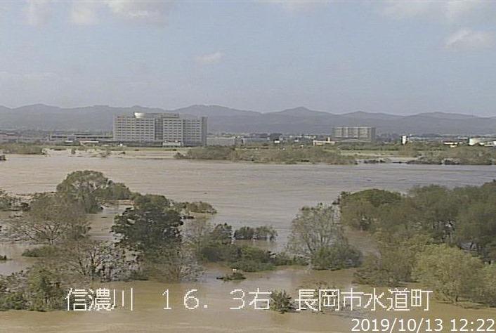 信濃川氾濫危険水位超過に伴う避難所について | 福本研究室