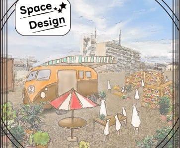露店の配置・外観の向上に関する空間デザイン